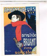 PUBLICITE   CPM LES AMBASSADEURS  TOULOUSE LAUTREC 1892 - Publicité