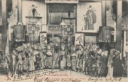 Viêt-Nam . Cholon . Théâtre Annamite . La Troupe  . - Viêt-Nam