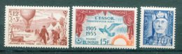 "10833  TUNISIE  N°388,389,395 ** Journée Du Timbre 1955, ""l'Essor"" ,Sidi Lamine Pacha Bey     1955  TTB - Tunisia (1888-1955)"