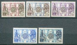 10834  TUNISIE  N°390/4 ** Cinquantenaire Du Rotary International     1955  TTB - Tunisia (1888-1955)