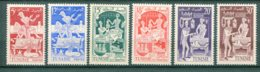 10835  TUNISIE  N°396/401 **  Les Métiers     1955  TTB - Tunisia (1888-1955)
