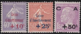 France     .   Yvert     .       249/251       .      *      .    Neuf Avec Charniere      .   /  .    Mint-hinged - France