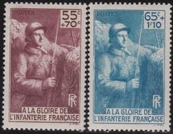 France     .   Yvert   .     386/387        .    *      .    Neuf Avec Charniere      .   /  .    Mint-hinged - Neufs