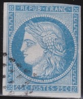 France     .   Yvert   .       4      .       O      .   Oblitéré      .   /  .      Cancelled - 1849-1850 Ceres