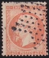 France     .   Yvert   .       23     .       O      .   Oblitéré      .   /  .      Cancelled - 1862 Napoleone III