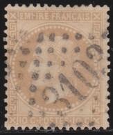 France     .   Yvert   .       28B      .       O      .   Oblitéré      .   /  .      Cancelled - 1863-1870 Napoleon III With Laurels