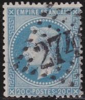 France     .   Yvert   .       29B      .       O      .   Oblitéré      .   /  .      Cancelled - 1863-1870 Napoleon III With Laurels