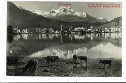CPA - Carte Postale -Suisse-Grisons - St Moritz-bad- Und Piz Della Margna-1910 - S5010 - GR Grisons