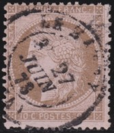 France     .   Yvert   .      58       .       O      .   Oblitéré      .   /  .      Cancelled - 1871-1875 Cérès