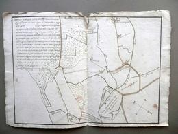Sbozzo Mappa Possessione Guidoni Castelvetro Modena Cabianche Rio Nizzola 1771 - Non Classificati
