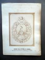 Fotografia Ricordo Vittoria Di Legnano Settimo Centenario 1876 Lega Lombarda - Foto