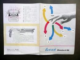 Everest Standard 92 Macchina Da Scrivere Pubblicità Serio Milano Crema 1949 - Non Classificati