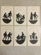 "6 Oude Pk Elsbeth Forck's Schattenbilder Reihe III ""Lieder Zur Laute"" - Illustrateurs & Photographes"