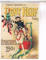 PUBLICITE   CPM   GRANDS MAGASINS DU PONT NEUF  JOUETS 1901 - Publicité