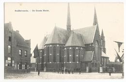 Ruddervoorde De Groote Markt Oude Postkaart Geanimeerd - Oostkamp