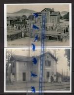 2 REPRODUCTIONS  ALGERIE TINDJA + OUED ROUINA GARE  STATION BAHNHOF - Algerije