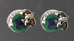 Pin's COMPAGNIE MOTORISEE DE POLICE VAL DE MARNE PAR COURTOIS PARIS (2 Dos Différents)........BT4 - Police