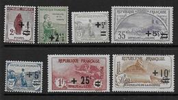 France - N° 162 à 168  * *   - Cote : 180 € - France