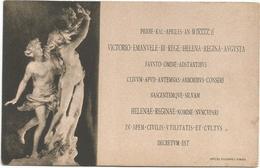 W581 Savoia - Matrimonio Fra Il Re Vittorio Emanuele III Ed Elena Di Montenegro 1896 / Non Viaggiata - Case Reali