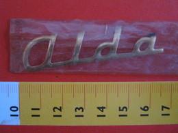 ADESIVO - ALDA ALDO - NOME NAME METALLIZZATO ORO GOLD RILIEVO VINTAGE 1970 ADHESIVE ETIQUETA ADHESIF - Adesivi