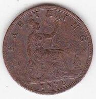 Grande-Bretagne 1 Farthing 1890 Victoria - B. 1 Farthing