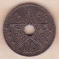 CONGO BELGE . 1 CENTIME 1888 . LEOPOLD II - Congo (Belge) & Ruanda-Urundi