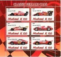 Cars - Automobile - Voiture - MALAWI 2011 - Formules 1 : FERRARI 2 Blocs (D Et ND) - Automobilismo