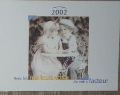 Petit Calendrier Poche 2002 Lavigne PTT Facteur Enfants - Calendars