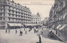 38----GRENOBLE--rue Félix-poulat Et Le Grand Hôtel Moderne---voir 2 Scans - Grenoble