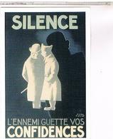 PUBLICITE   CPM  SILENCE AFFICHE DE PAUL COLIN - Publicité