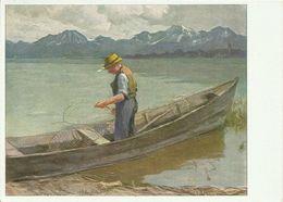 2 AKs Gemälde Albert Stagura - Chiemsee-Fischer - Farbkarten # - Künstlerkarten