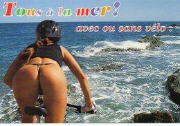Vends Carte   Tous à La Mer - Humour