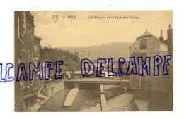 Huy. Le Hoyoux Et Le Pont Des Veaux. Garage Hubin. Publicités.Edition A. Scheers - Huy