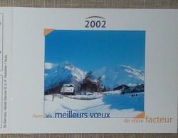Petit Calendrier Poche 2002 Lavigne PTT Facteur St Gervais Haute Savoie - Calendars