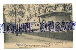 Exposition Universelle De Liège 1905. Les Pavillons Du Montenegro Et De La Serbie. Carte Animée. Phot. H. Bertels - Liege