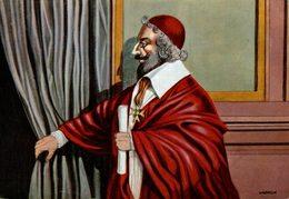 CHROMO  ENCYCLORAMA  LA VIE DE NOS ANCETRES  LOUIS XIII ET RICHELIEU - Cromo