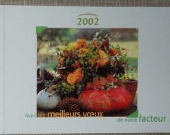 Petit Calendrier Poche 2002 Lavigne PTT Facteur  Fleurs Citrouille - Calendars