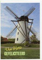 ERTVELDE - Evergem (O.-Vl.) - Molen/moulin - Mooie WENSKAART Incl. Envelop Van De Stenen Molen In Werking - Evergem