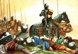 CHROMO  ENCYCLORAMA  LA VIE DE NOS ANCETRES  EDOUARD III PRETENDENT A LA COURONNE DE FRANCE - Trade Cards