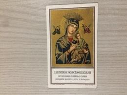 Santino S. Maria De Perpetuo Succursu Venerata In Roma In Eccl. S. Alphonsi - Santini