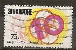 Singapour Singapore 1976 Youth Festival Obl - Singapore (1959-...)