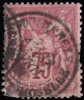 FRANCE - Scott #75 Peace And Commerce CV $13.50 / Used Stamp - 1876-1878 Sage (Type I)