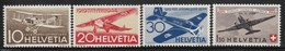 SUISSE - 1944 - PA  N°37/40 **  25 Ans De Poste Aérienne Suisse - Unused Stamps