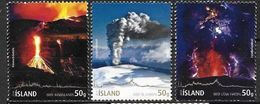 Islande 2010, N°1210/1212 Neufs Eruption Volcanique Du Eyjafjällajöckul - 1944-... Republique