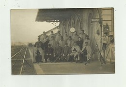 38 - SALAISE - CP PHOTO - La Gare Militaires Animée Bon état - France