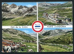 Pas De La Casa . Frontière Franco -Andorranne . Timbre Affranchi 1963 - Andorre