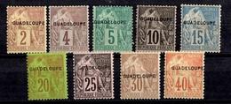 Guadeloupe Neuf Timbres Alphée Dubois Surchargés De 1891 Neufs *. Bonnes Valeurs. B/TB. A Saisir! - Guadeloupe (1884-1947)