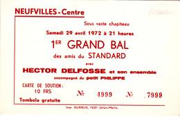 Neufvilles-Centre 1er Grand Bal Des Amis Du Standard - Vieux Papiers