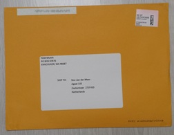 USA: Large Cover To Netherlands, 2018, ATM Machine Label, $ 4.16 Rate (minor Crease) - Brieven En Documenten