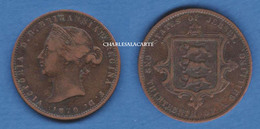 JERSEY 1870  VICTORIA  1/13 SHILLING BRONZE  VERY GOOD CONDITION PLEASE SEE SCAN - Jersey